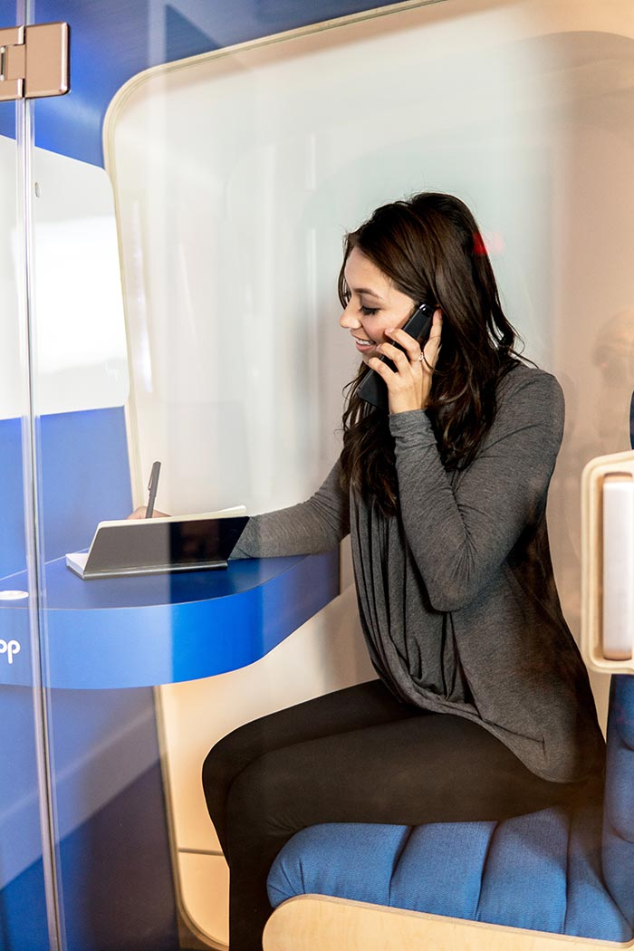 Open Office Phone Booth for Noise Control
