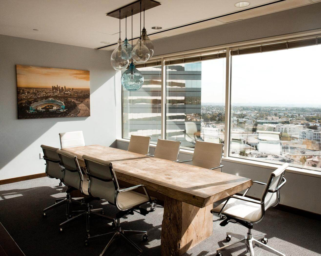 Ergonomic chairs and desks are vital in motivating employees to perform well in an open concept office space.