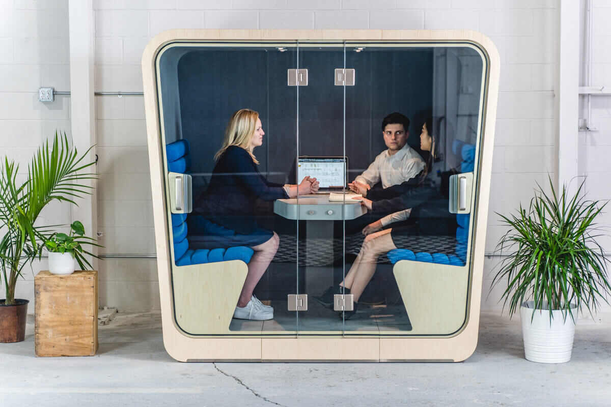 The Loop Cube allows a quiet space for employees to work to the best of their ability.