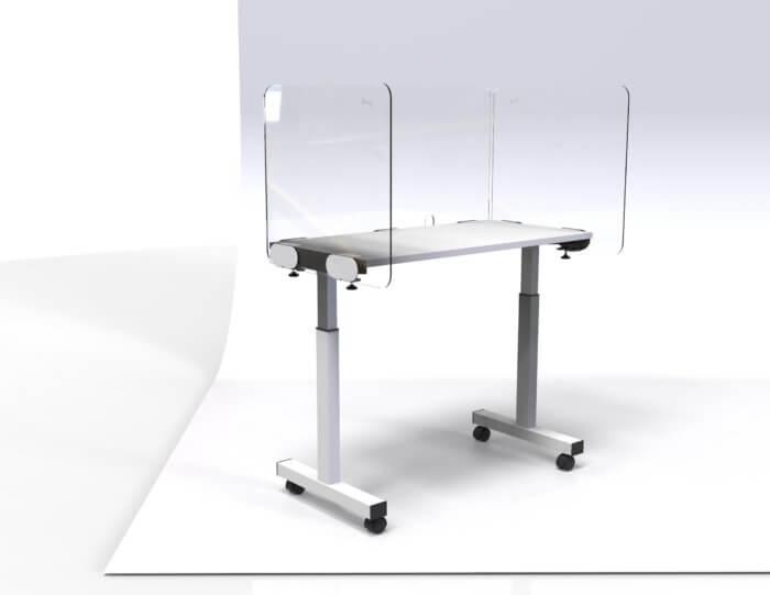 Side Mount Desk Screen