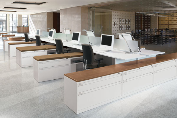 Inside the Court Office Furniture showroom - New York, USA