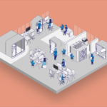 Office Illustration with Office Pods